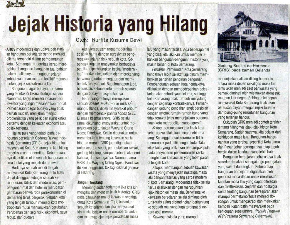 Arus modernitas dan upaya pelestarian bangunan bersejarah sering