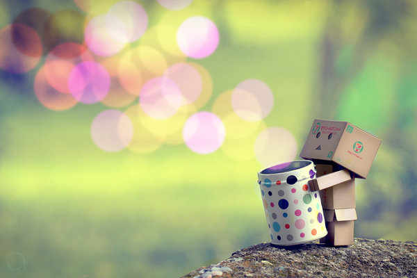 Danbo with the Colouring Bubbles